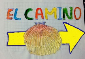 カミーノ巡礼者が付けるホタテの貝殻